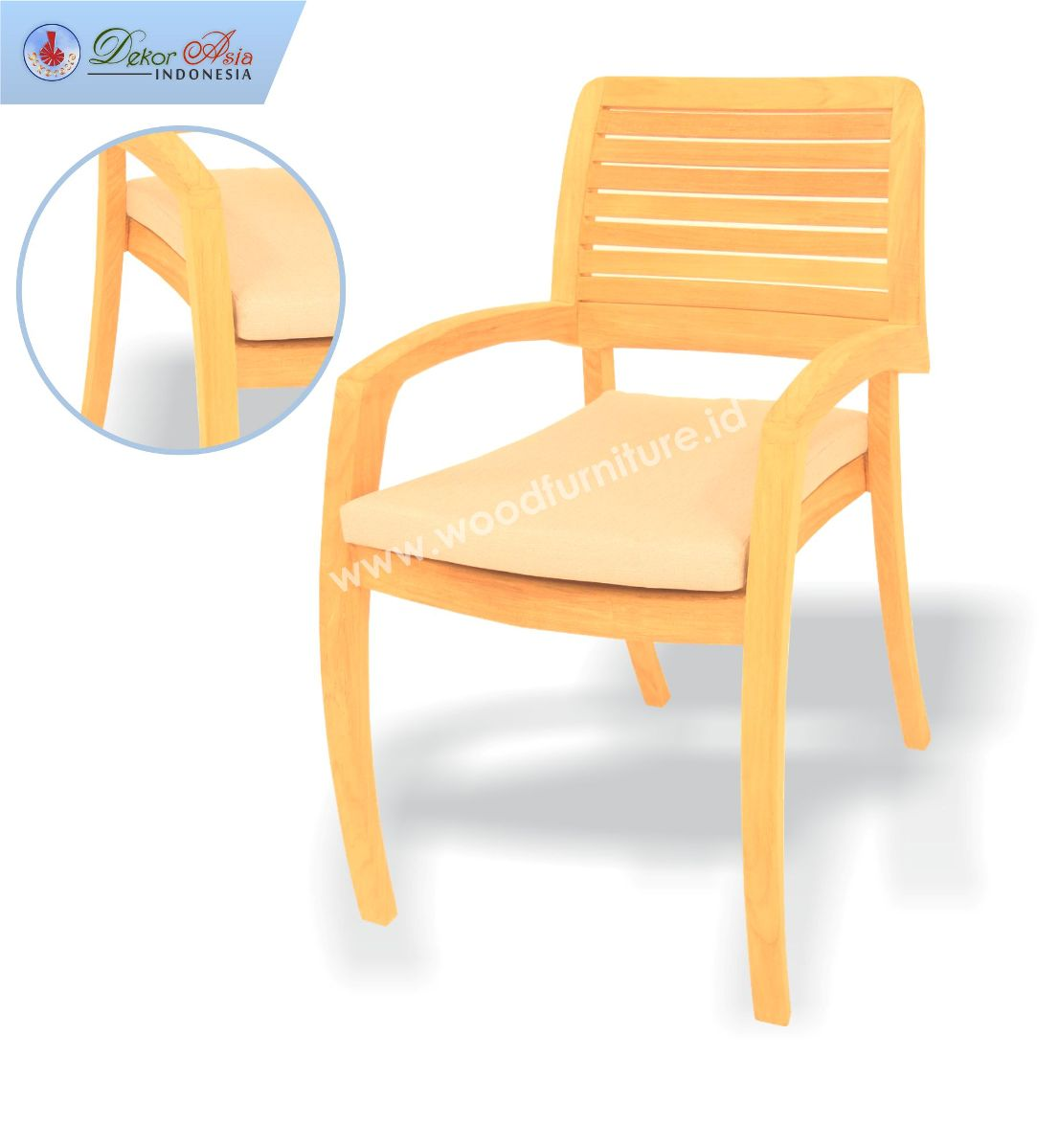ANA STACKING ARM CHAIR SLAT