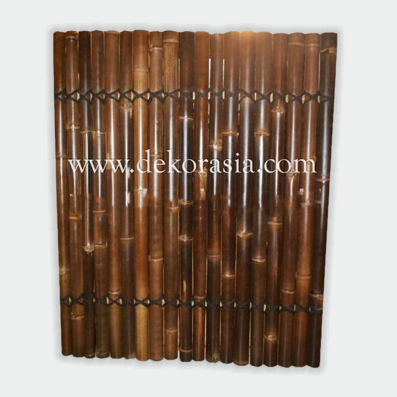 Bamboo Fence 2 Back Slats Black Coco Rope