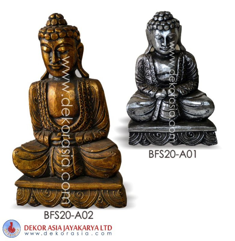 Buddha Statue Silver and Gold