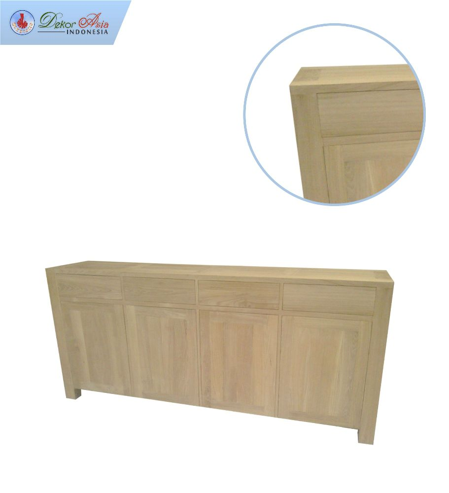 ERO BUFFET 4 DOOR 4 DRAWERS FULL TEAK