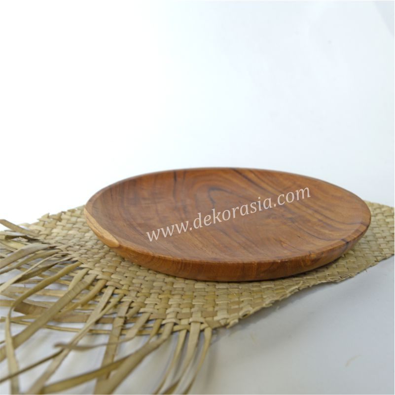 Round Teak Wooden Tray | Kitchen Tools | Wooden