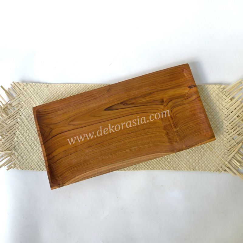 Teak Wood Rectangle Tray | Kitchen Tools | Wooden