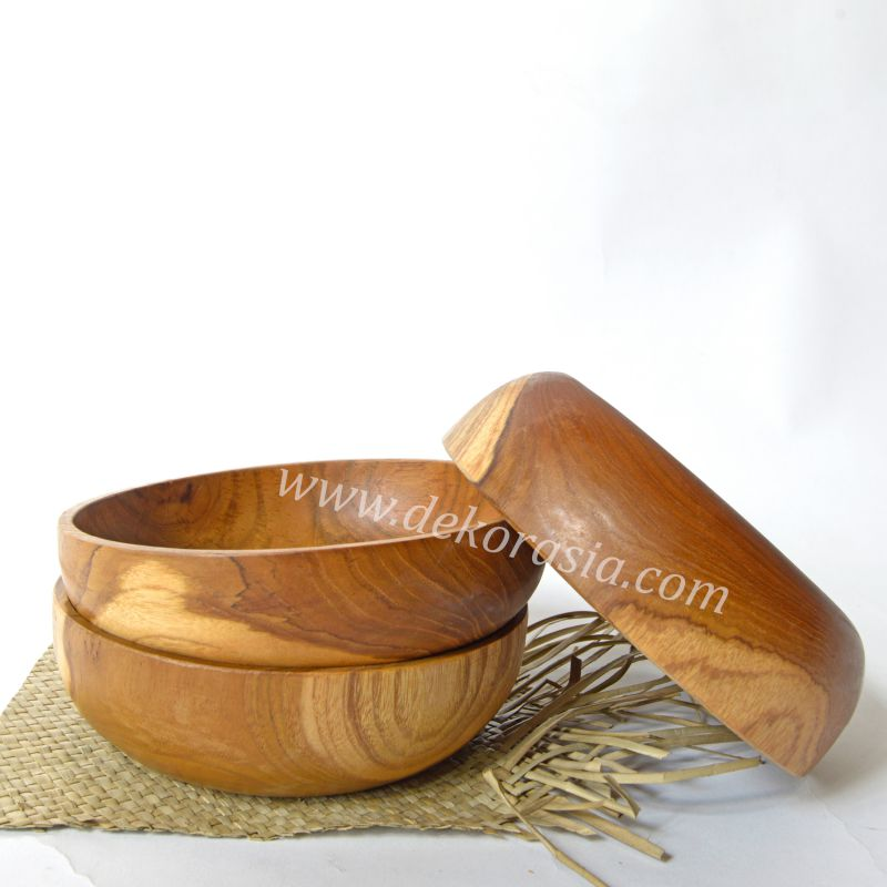 Teak Wood Round Tray D 7.8 Inc | Kitchen Tools | Wooden