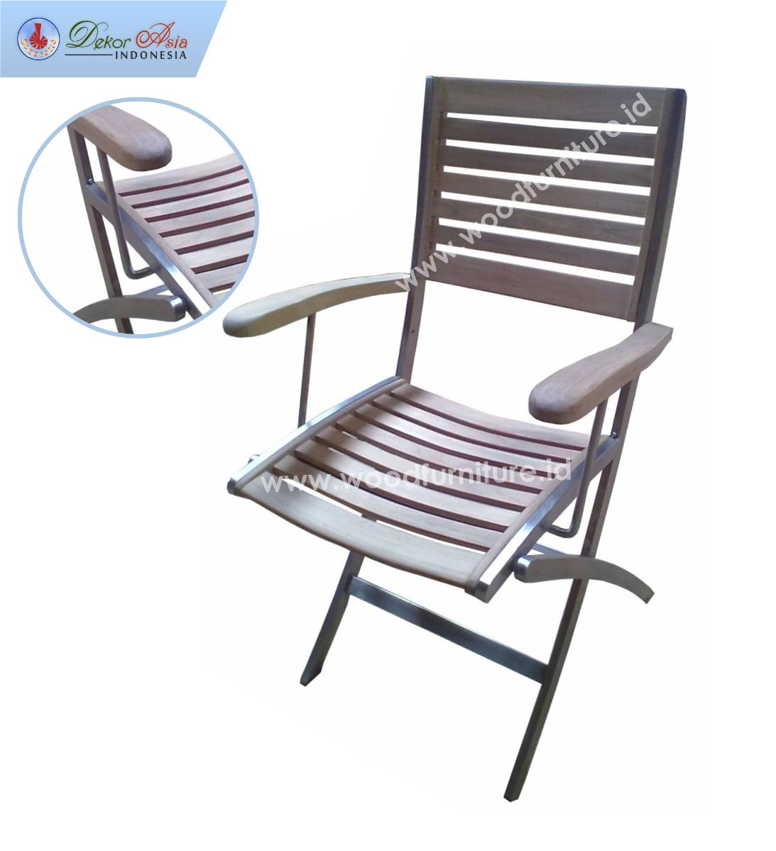 NAUTICAL ARMCHAIR H STAINLESS