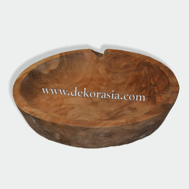 ROUND TRAY L Teak Bowl Recycled Wood