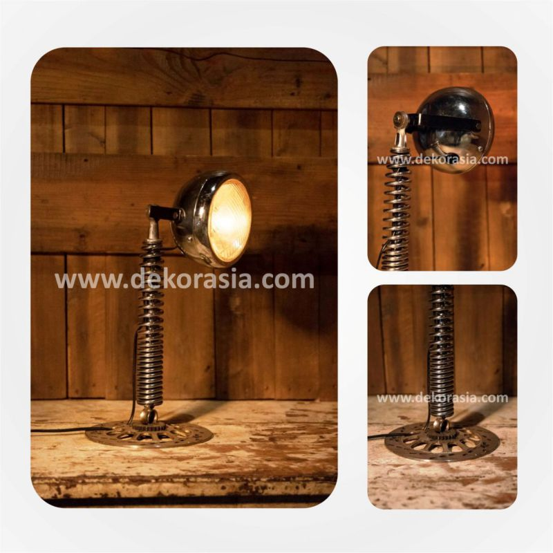 Steampunk Industrial Lamp | Vintage Motorcycle Lamp | Industrial lighting | Motorcycle Industrial