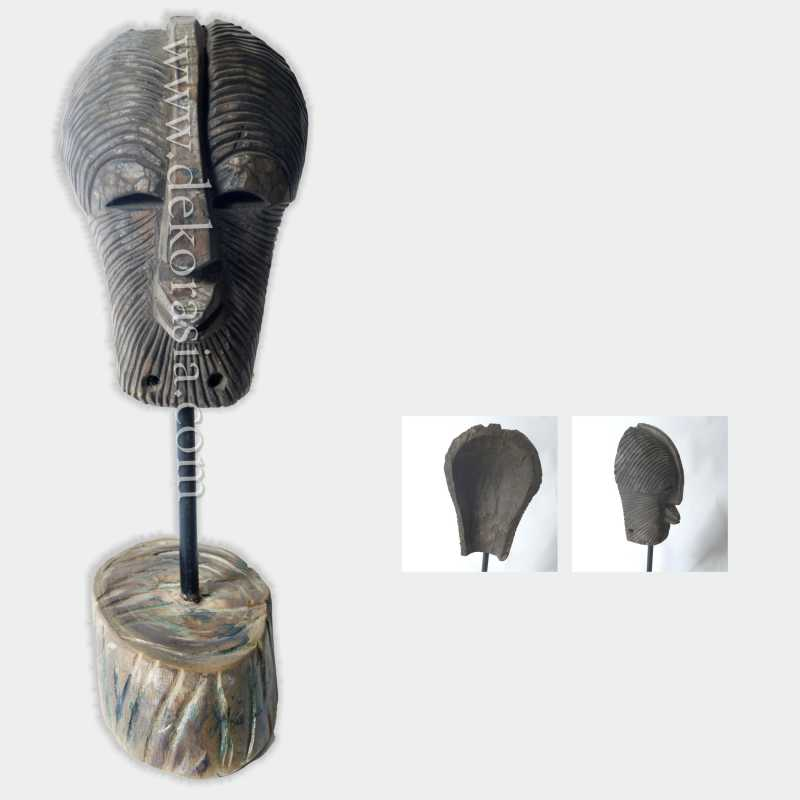 Wood Mask Art Sculptures for Home Decoration