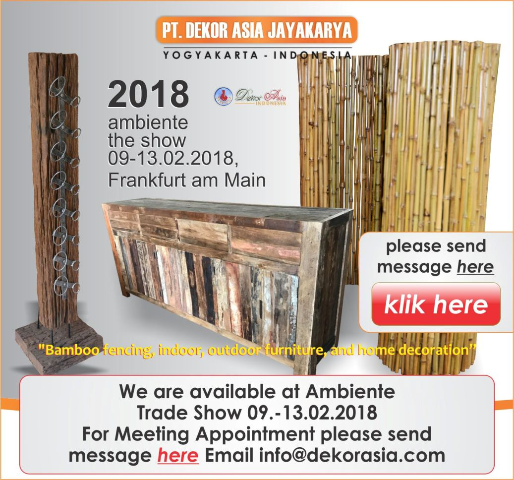 Ambiente The Show, Messe Frankfurt Germany, We are available at Ambiente Trade Show 9.-13.02.2018