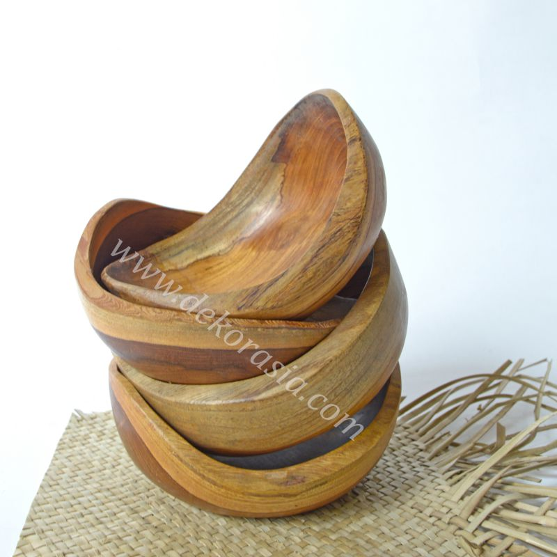 Antique Shape Teak Bowl D 5.7 Inc | Kitchen Tools | Wooden