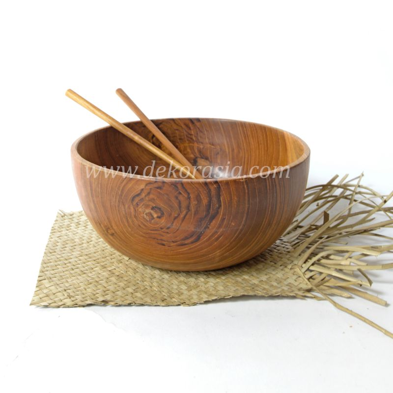 Teak Wood Round Bowl 5.7 Inc | Kitchen Tools | Wooden