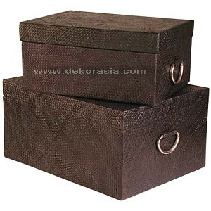 PANDAN CLOTHES BOXES SET OF 2