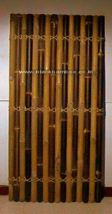 BLACK YELLOW BAMBOO FENCE