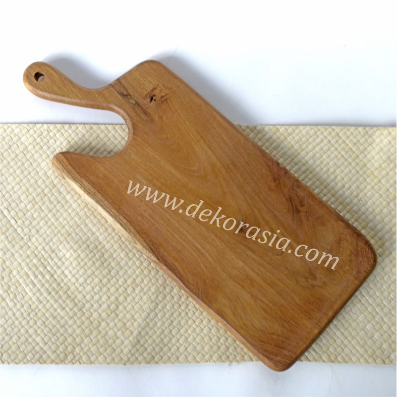 Wooden Antique Teak Cutting Board with Handle | Kitchen Tools | Wooden