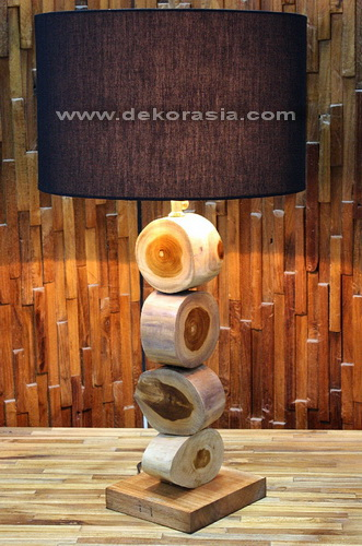 RECYCLED WOOD LAMP SHADE