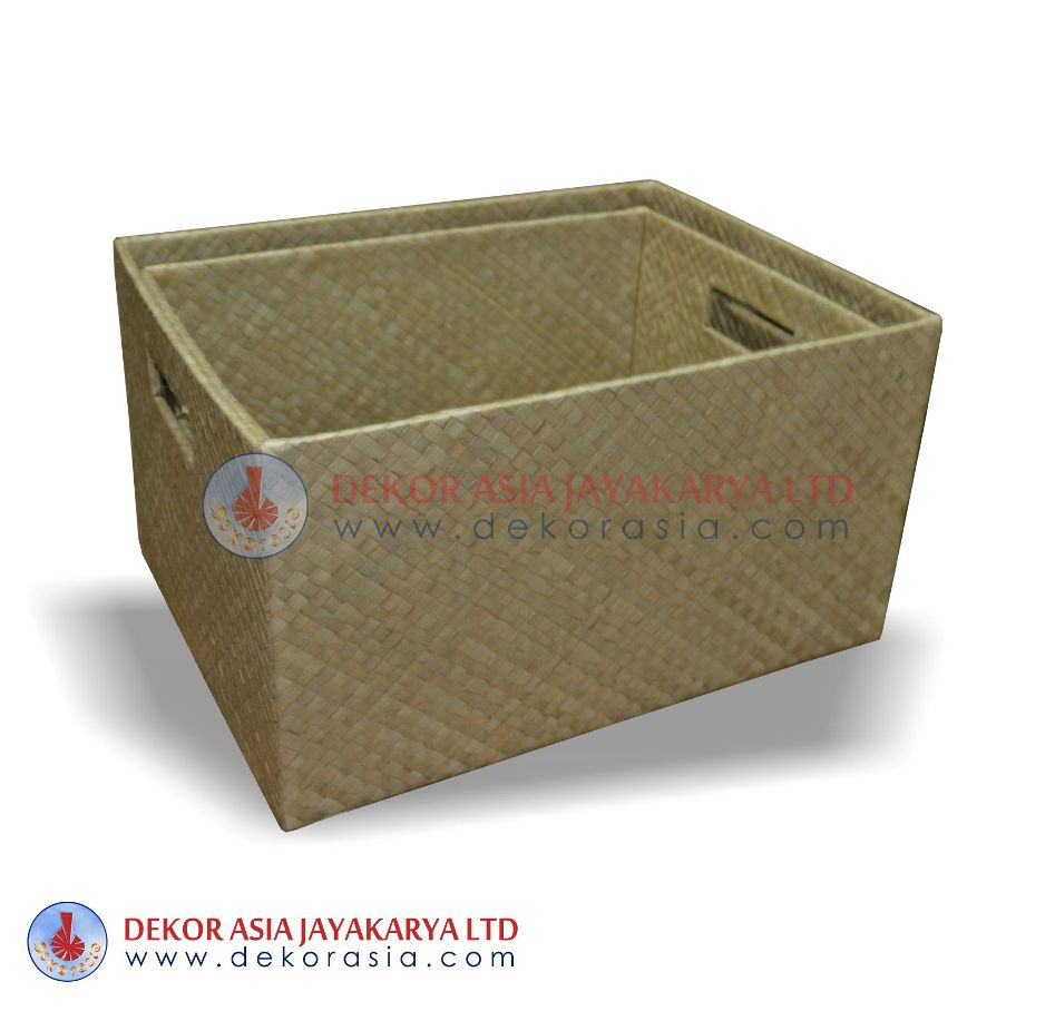 Rectanguler Box Without lid - Pandanus Boxes