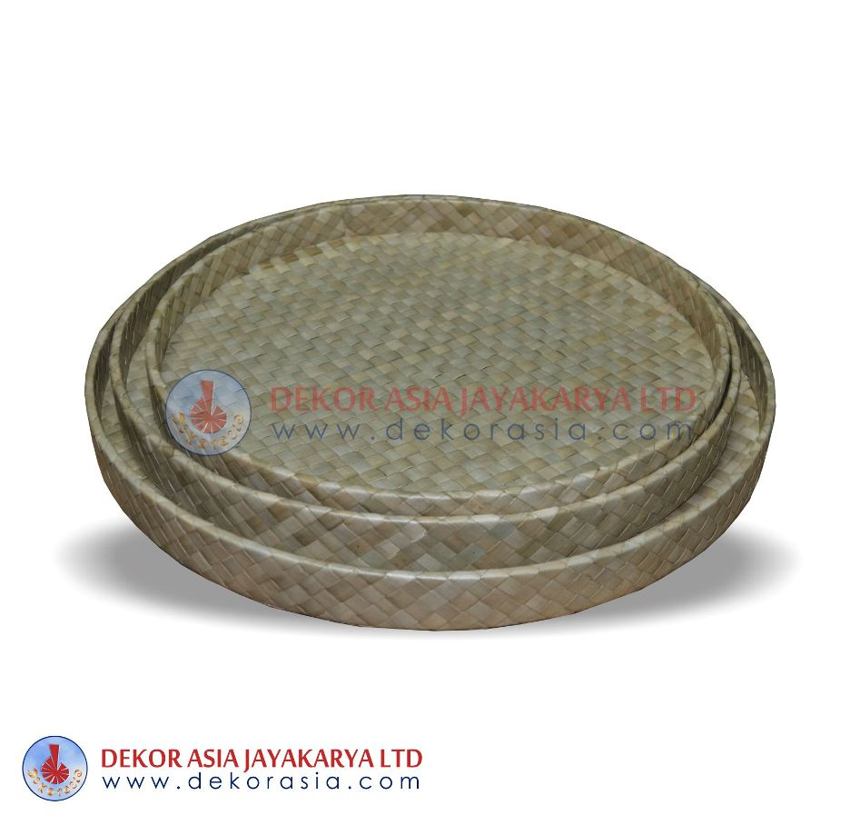 Round Tray Set Of 3 - Pandanus Boxes