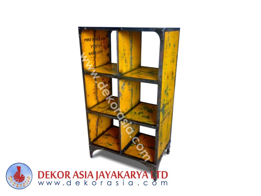 Iron Book Case 6 Hole - Iron Industrial Furniture
