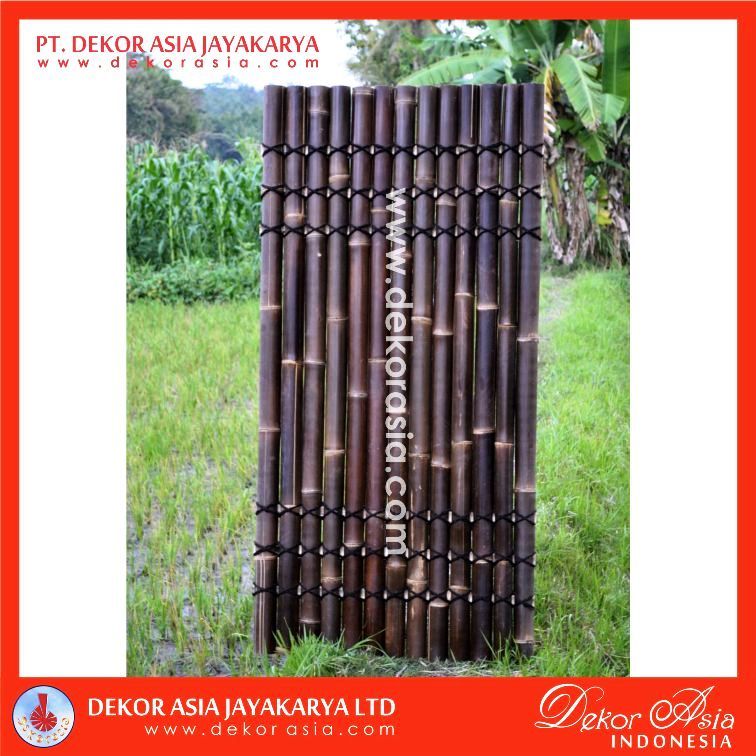 Black Bamboo Half Raft Panel - Bamboo Panel and Bamboo Screen