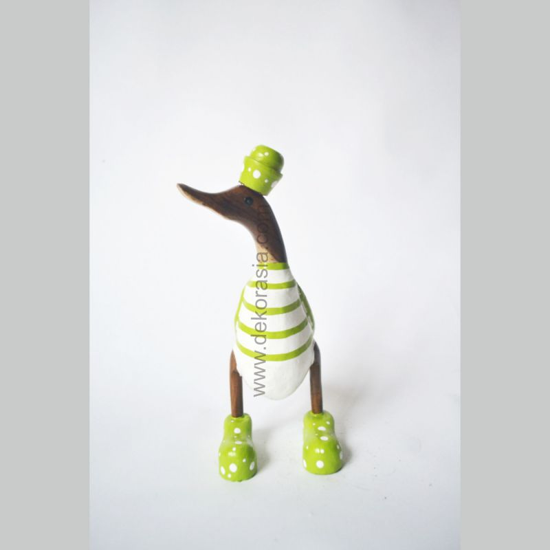 Stripe Green | Bamboo Duck Craft | Bamboo Root Craft