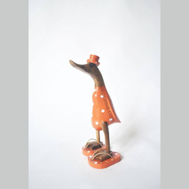 Orange Polkadot with Sandals | Bamboo Duck | Bamboo Duck Craft | Bamboo Root Craft