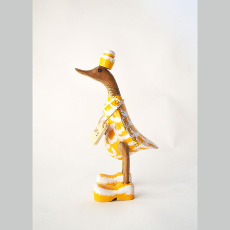 Leather Style - Yellow | Bamboo Duck Craft | Bamboo Root Craft