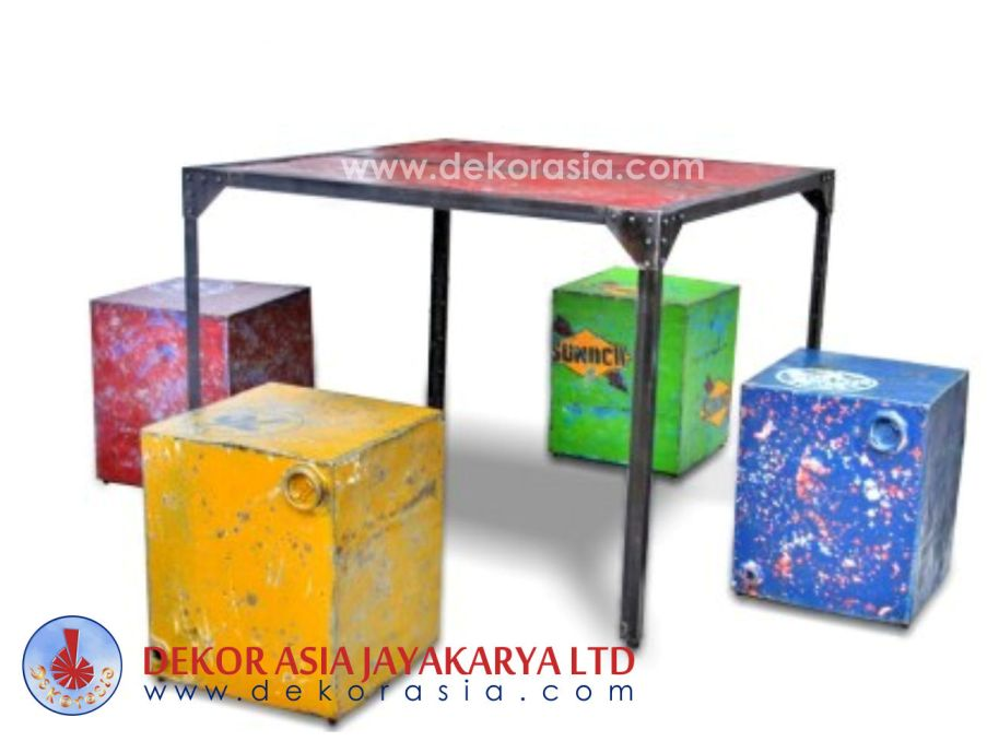 Iron Dining Table K/D - Iron Industrial Furniture - Iron Coffee Table manufacturer & manufacturer