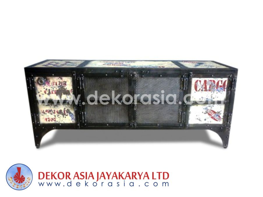 Iron Buffet Tv 4 Door - Iron Industrial Furniture