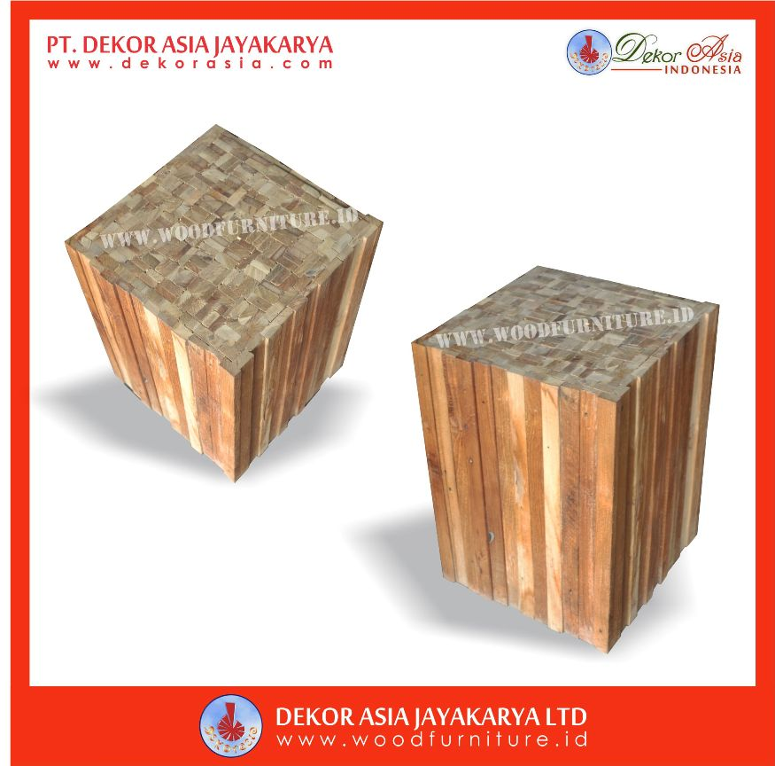 Recycled Teak Stool